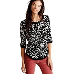 Anthropologie Moth Halfeti Rose Pullover Sweater